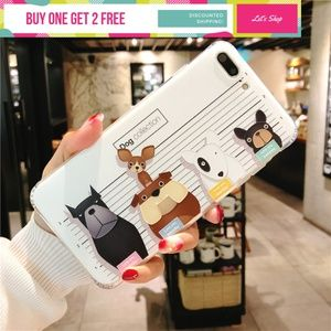 Accessories - Dog Collections Soft TPU Shockproof Phone Case